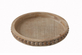 Round Decorative Beaded Edge Tray