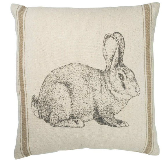 Cotton Stripe Bunny Pillow