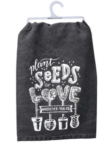 Plant Seeds Tea Towel