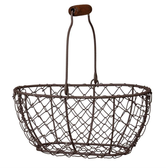 Oval Wire Basket w/ Handle