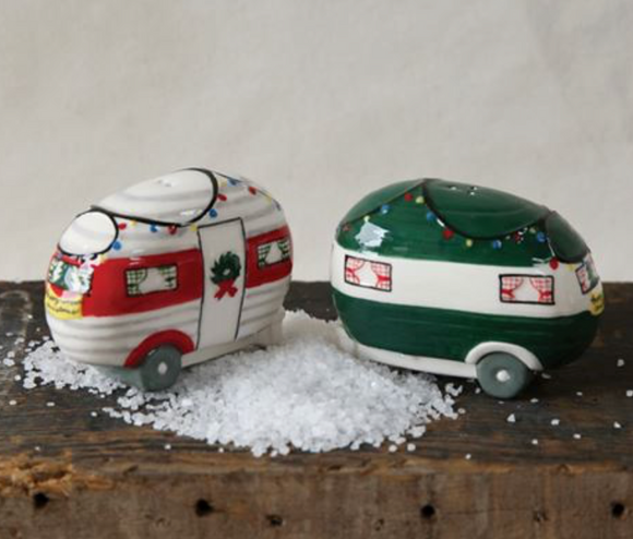 Happy Camper Salt & Pepper Shaker Set