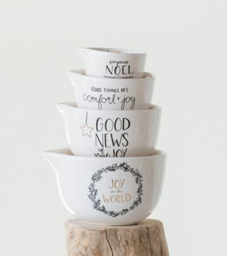 Holiday Stoneware Measuring Cup Set