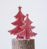 Red Stoneware Tree