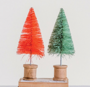 Multicolor Bottle Brush Tree on Spool