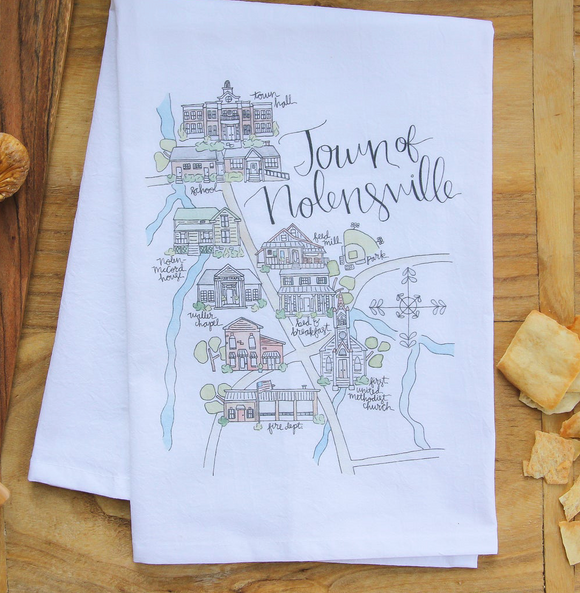 Nolensville Map Tea Towel