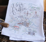 Franklin Map Tea Towel