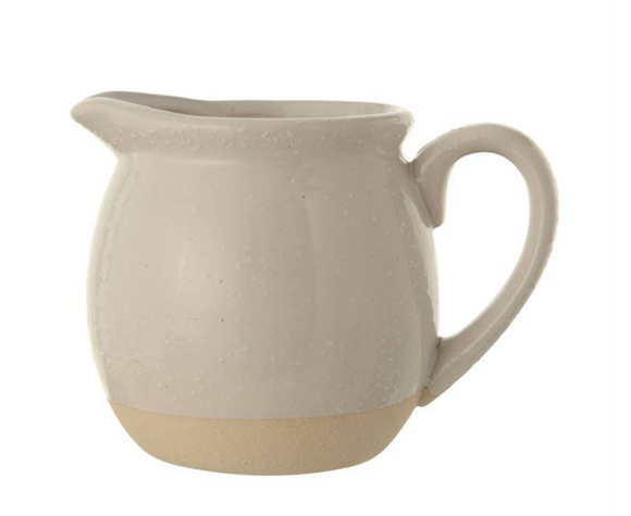 Natural Glazed & Matte Stoneware Pitcher
