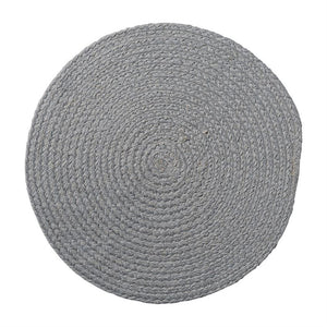 Grey Round Jute Placemat