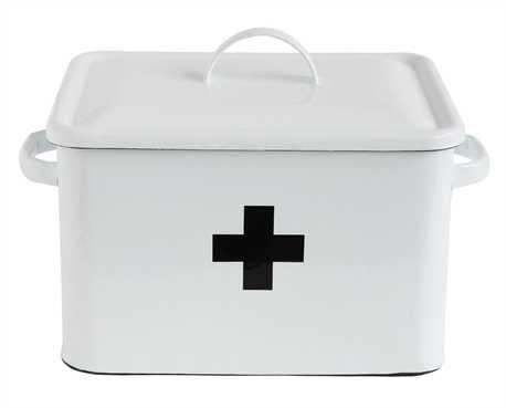 Enamel First Aid Box