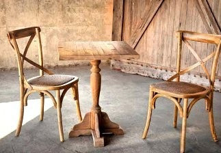Wooden Cross-Back Chair