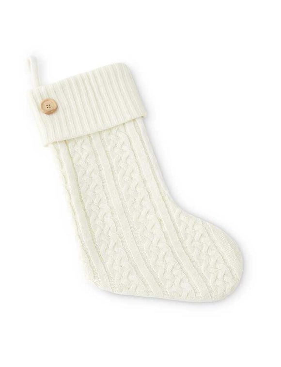 Cable Knit Stocking w/ Button