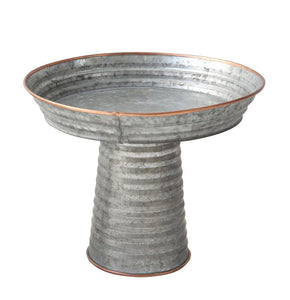 Corrugated Tin Pedestal