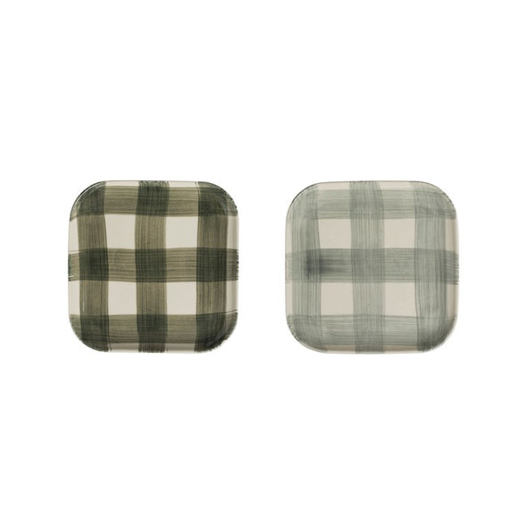 Square Green Buffalo Check Plate