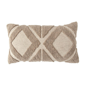 Textured Taupe Lumbar Pillow
