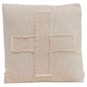 Cream Swiss Cross Slub Pillow