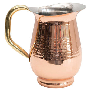 Hammered Stainless Copper Pitcher