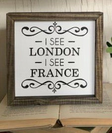 I See London Framed Sign