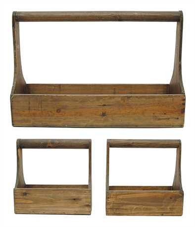 Large Wooden Tool Box Planter