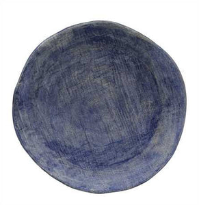 Large Blue Stoneware Plate