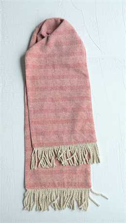 Red/White Cotton Fringe Table Runner