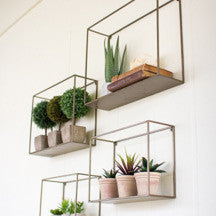 Gold Metal Floating Shelf