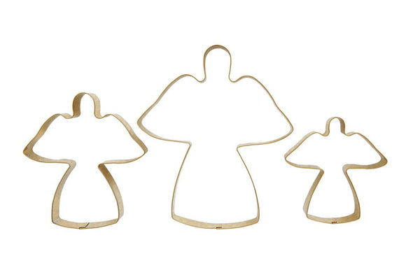 Stainless Steel Angel Cookie Cutters Set