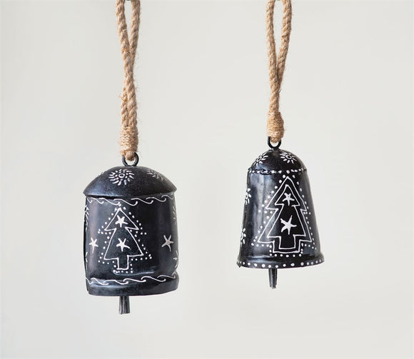 Hand-Painted Metal Bell Ornament
