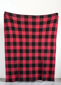 Red & Black Buffalo Check Throw