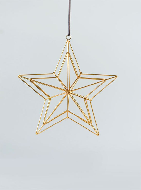 Gold Wire Star Ornament