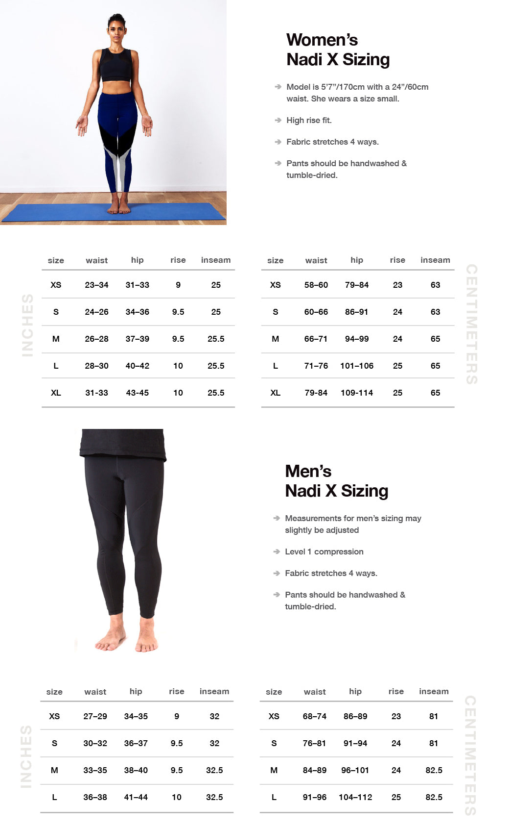 Nadi x smart yoga pants biometric yoga pants wearable x size chart geenschuldenfo Choice Image