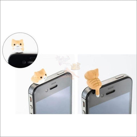 Image of Cute Smartphone Anti Dust Cat Plug- best dust plug by Blissfactory Pet Supplies