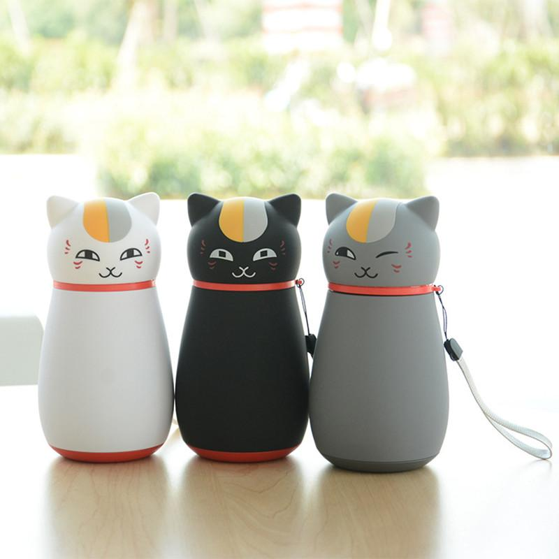 Cute Japanese Cat Thermos Flask, Coffee Thermos 3 colors by Blissfactory Pet Supplies
