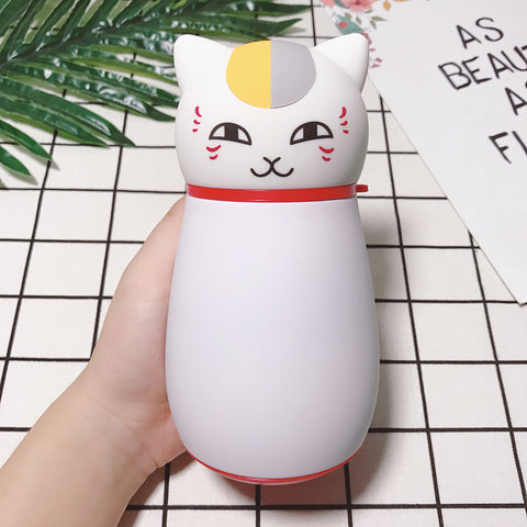 Image of Cute Japanese Cat Thermos Flask, Coffee Thermos white by Blissfactory Pet Supplies