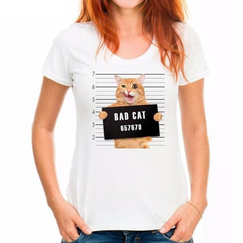 Funny Bad Cat Shirts Variant 2 by  Blissfactory Pet Supplies