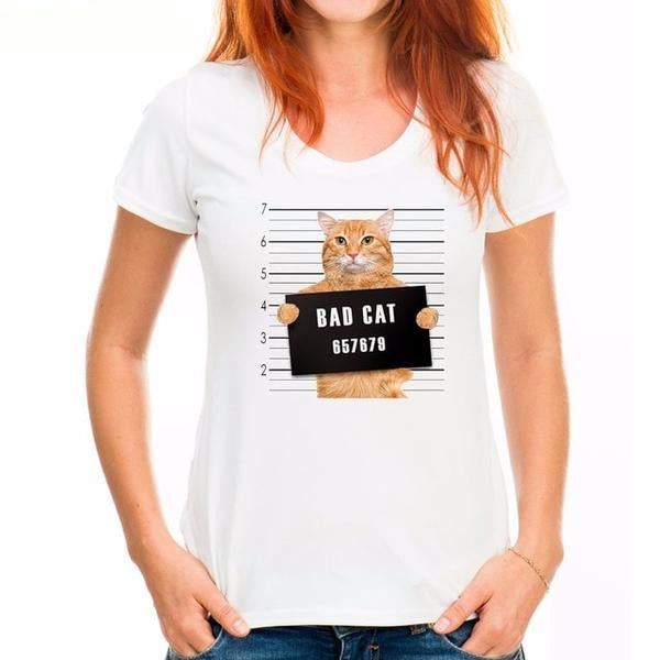 Funny Bad Cat Shirts Variant 3 by  Blissfactory Pet Supplies