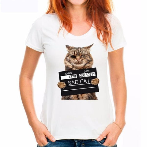 Funny Bad Cat Shirts Variant 1 by  Blissfactory Pet Supplies