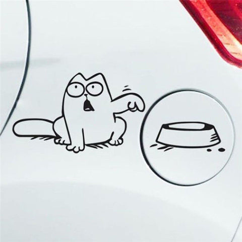 Simon's Cat Car Stickers - Best Bumper stickers Black by Blissfactory Pet Supplies