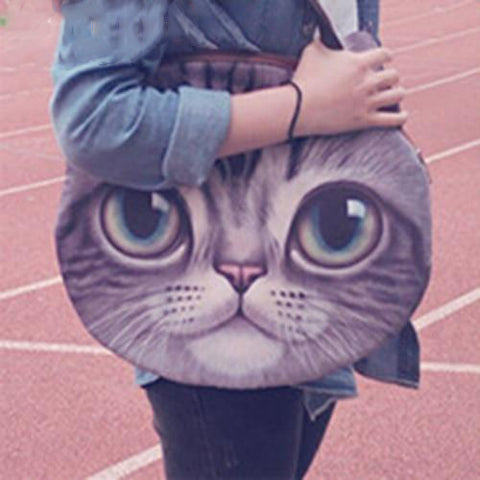 Large Funny Cute Cat Purse, Cat Bag kitty 3 by Blissfactory Pet Supplies