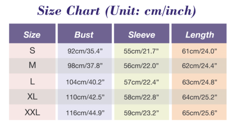 Cat Ear Hoodies For Girls - Best Sweatshirts For Women Size chart by Blissfactory Pet Supplies