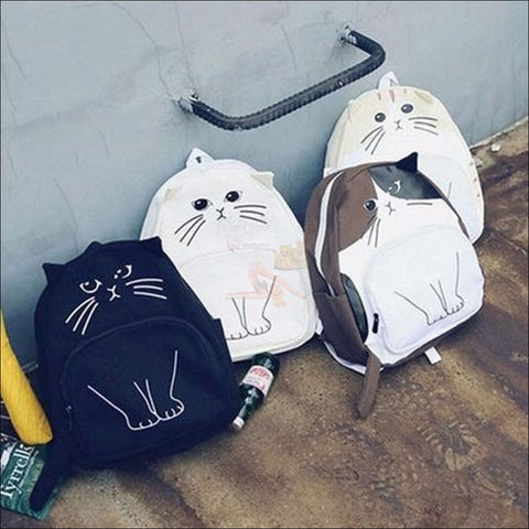 Adorable 3D Printed  Cat Backpack 4 variants by Blissfactory Pet Supplies