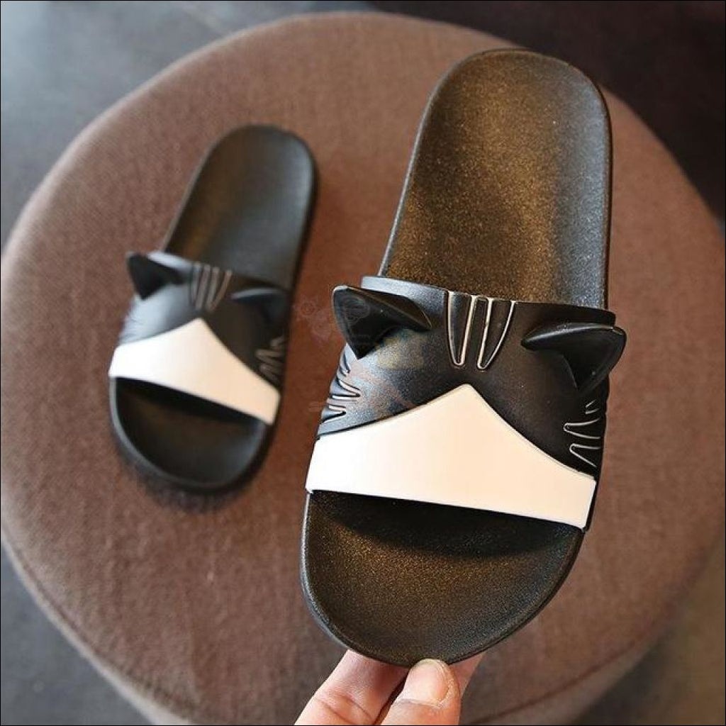 Adorable Cat Slipper black by Blissfactory Pet Supplies