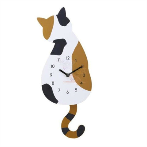 Adorable Cat Tail Swinging Wall Hanging Clock