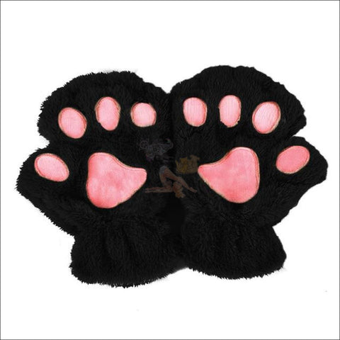 Adorable Winter finger less  Cat  Gloves black by Blissfactory Pet Supplies