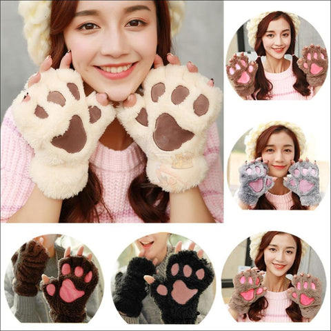 Adorable Winter finger less  Cat  Gloves 6 colors by Blissfactory Pet Supplies