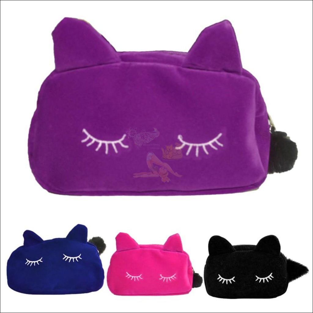 Adorable Kitten Plush Velvet Multipurpose Bag