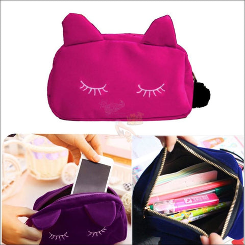 Image of Adorable Multipurpose velvet  cat Bag storage space by Blissfactory Pet Supplies