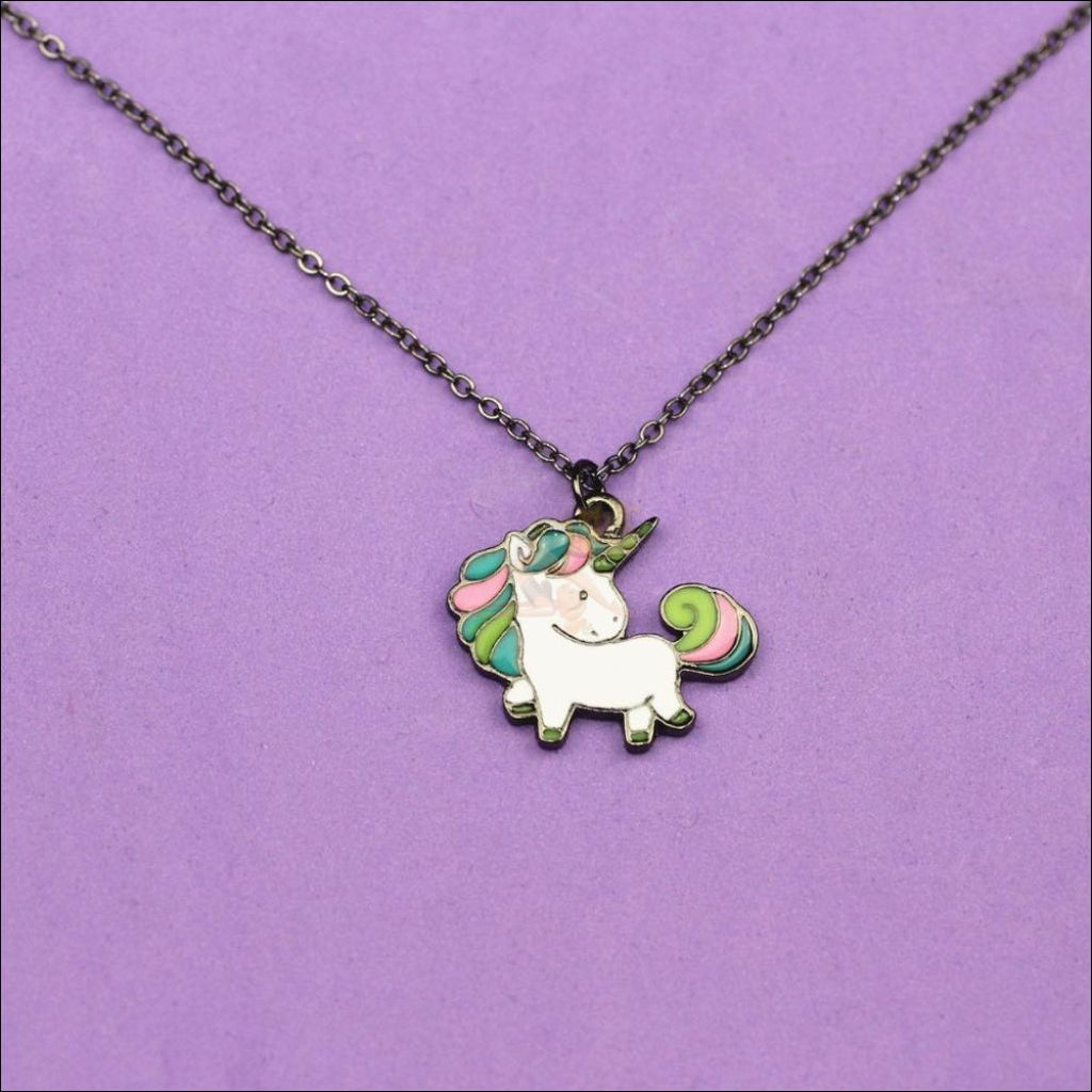 Adorable Unicorn Necklace - The Last Of Her Kind! design  by Blissfactory Pet Supplies