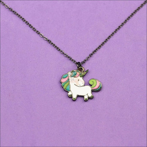 Adorable Rainbow Unicorn Necklace - The Last Of Her Kind! Necklaces