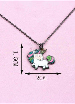 Adorable Rainbow Unicorn Necklace - The Last Of Her Kind!