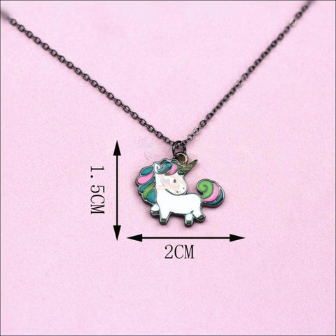 Image of Adorable Unicorn Necklace - The Last Of Her Kind! measurement   by Blissfactory Pet Supplies